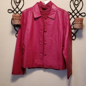 ***HOT PINK*** Leather Jacket